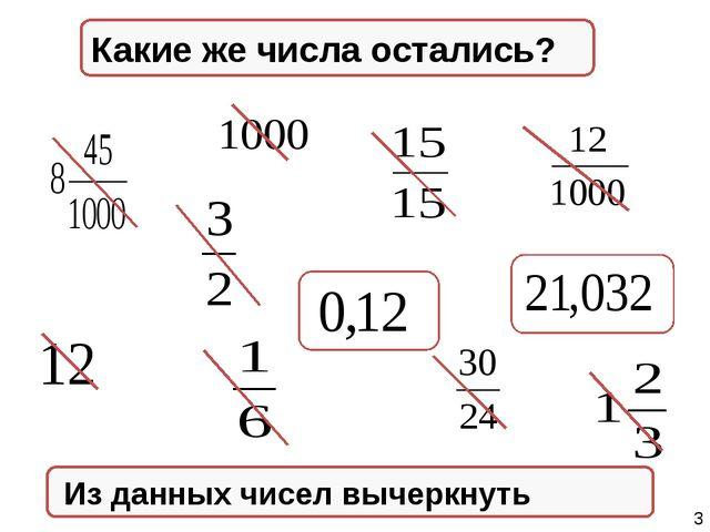 Натуральные числа Из данных чисел вычеркнуть Правильные дроби Неправильные д...