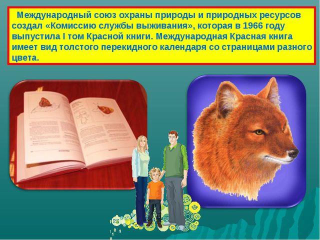 Международный союз охраны природы и природных ресурсов создал «Комиссию служ...