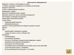 Этапы современного урока Универсальные учебные действия Приемы работы Планиро