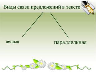 Виды связи предложений в тексте цепная параллельная