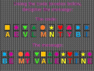 Using the code breaker below, decipher the message: A E V L M N T Y B I The c