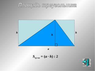h h h a Sтр-ка = (a · h) : 2