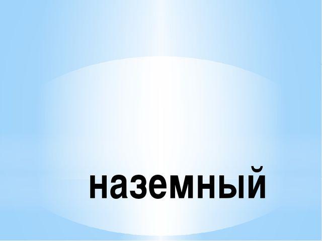 наземный