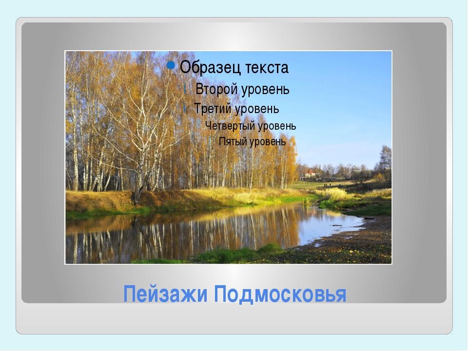 Пейзажи Подмосковья