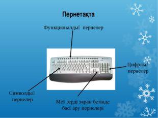 Пернетақта Функционалдық пернелер Символдық пернелер Меңзерді экран бетінде б