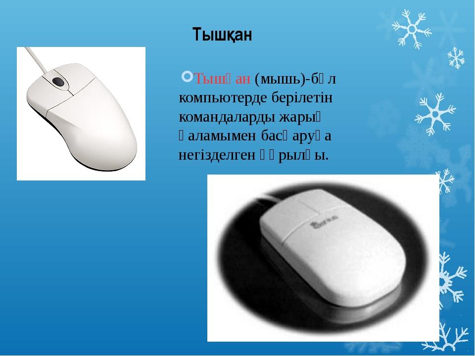 Тышқан (мышь)-бұл компьютерде берілетін командаларды жарық қаламымен басқаруғ...