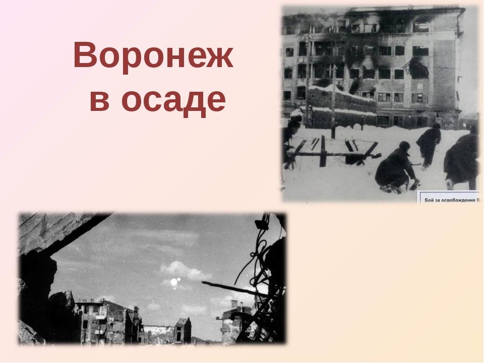 Воронеж в осаде