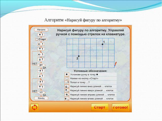 Алгоритм «Нарисуй фигуру по алгоритму»