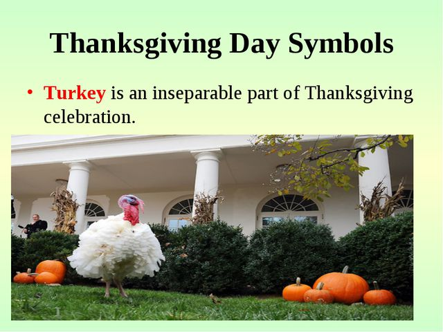 Thanksgiving Day Symbols Turkey is an inseparable part of Thanksgiving celebr...