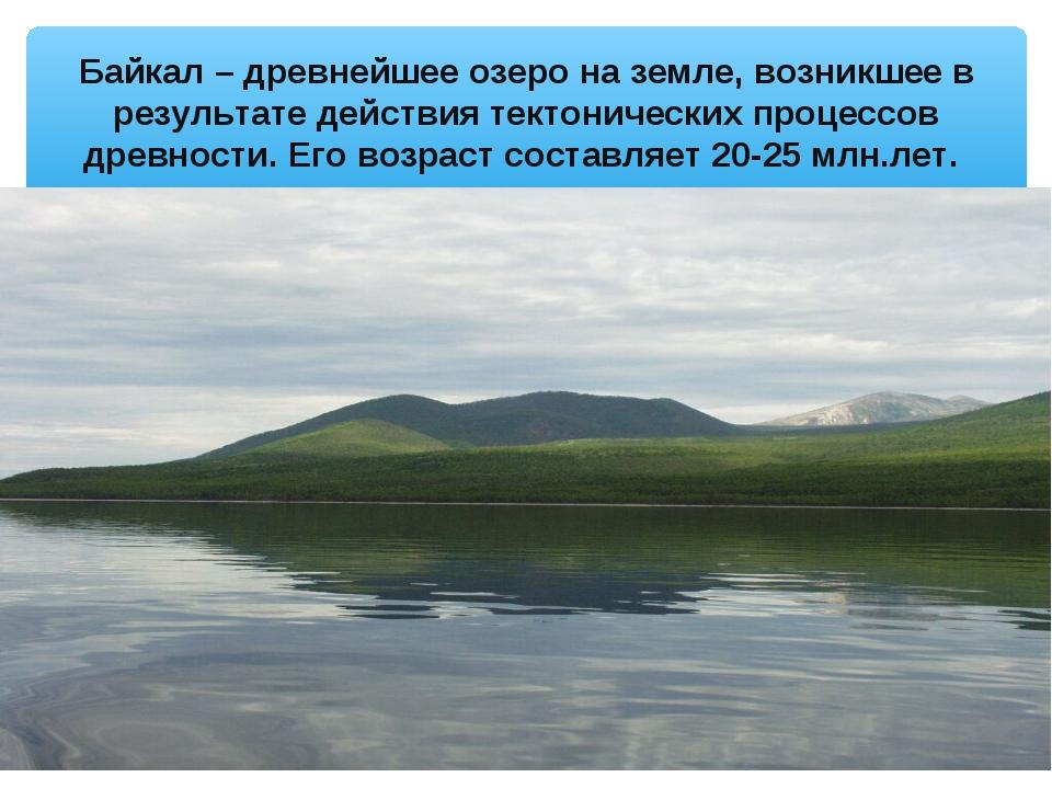 Байкал – древнейшее озеро на земле, возникшее в результате действия тектониче...