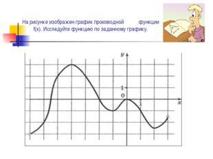На рисунке изображен график производной функции f(x). Исследуйте функцию по з