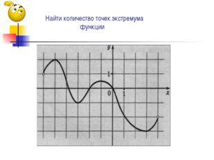 Найти количество точек экстремума функции