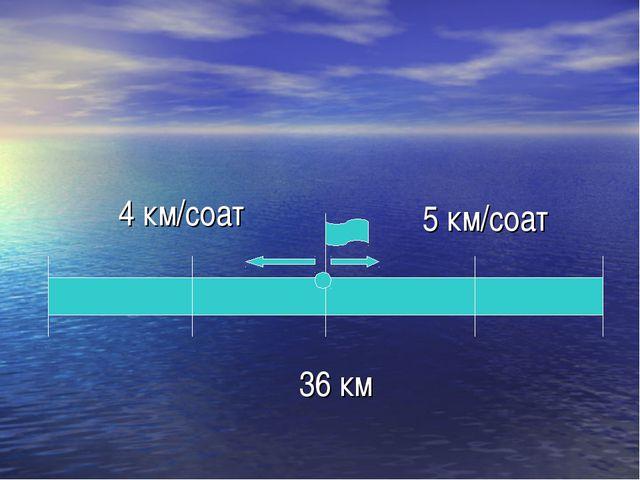 4 км/соат 5 км/соат 36 км