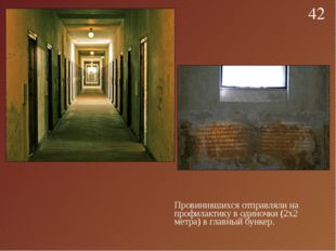 Провинившихся отправляли на профилактику в одиночки (2х2 метра) в главный бун