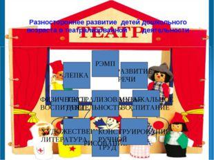 Разностороннее развитие детей дошкольного возраста в театрализованной деятел
