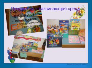 Предметно – развивающая среда larisa.pogonecz@mail.ru