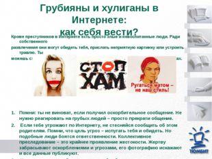 Грубияны и хулиганы в Интернете: как себя вести? Кроме преступников в Интерн