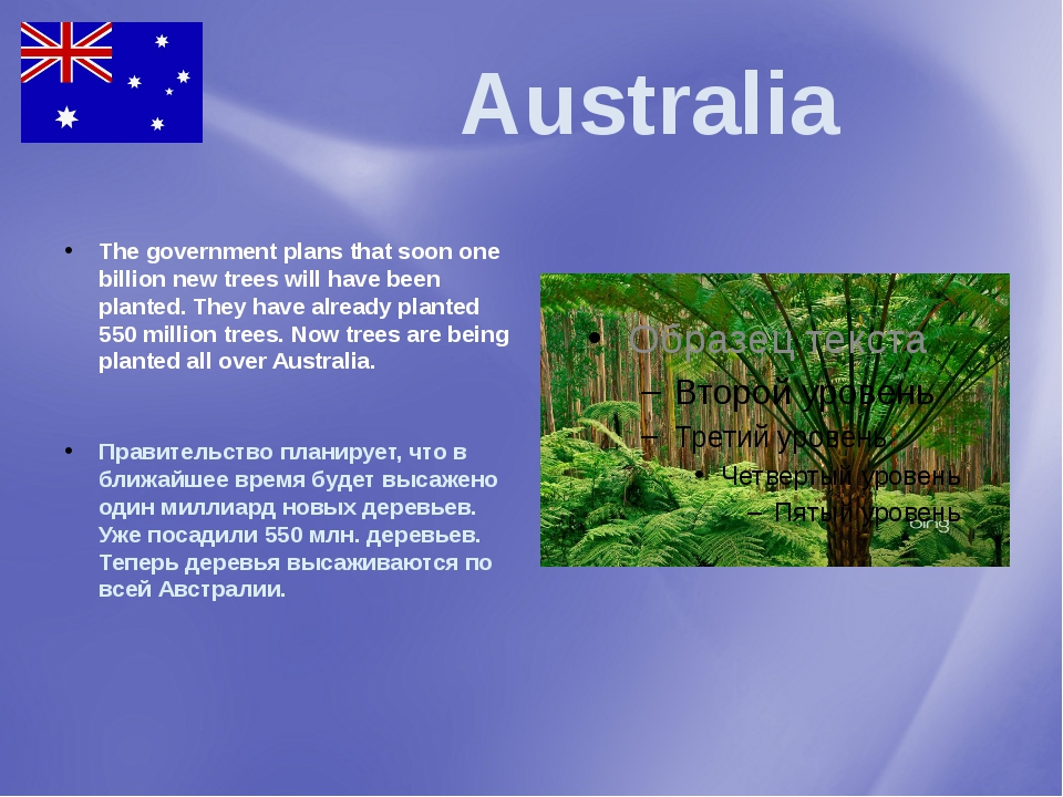 Australia The government plans that soon one billion new trees will have bee...