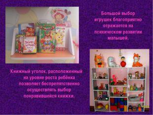 Большой выбор игрушек благоприятно отражается на психическом развитии малышей