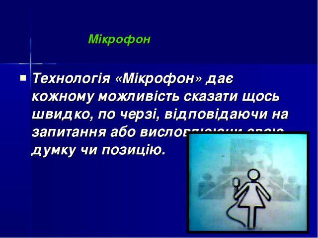 Мікрофон Технологія «Мікрофон» дає кожному можливість сказати щось швидко, п...