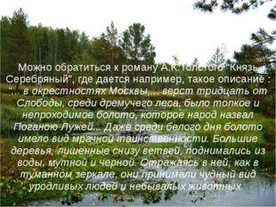 """Можно обратиться к роману А.К.Толстого """"Князь Серебряный"""", где дается наприме"""