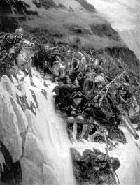 Переход Суворова через Альпы. В. Суриков. 1899 г.