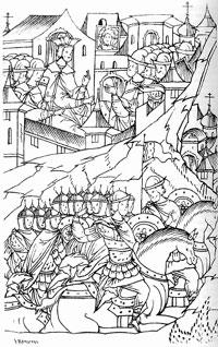 Отправление царских войск в Казань