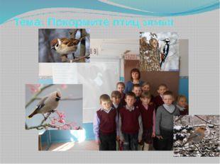 Тема: Покормите птиц зимой