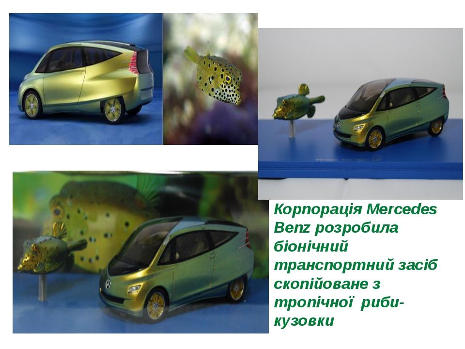 Корпорація Mercedes Benz розробила біонічний транспортний засіб скопійоване...