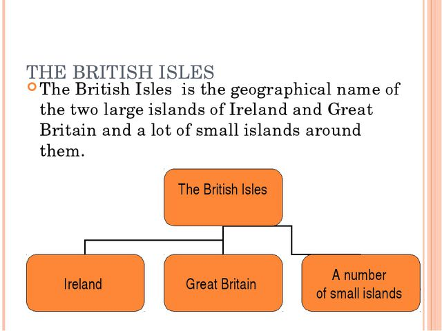 THE BRITISH ISLES The British Isles is the geographical name of the two large...