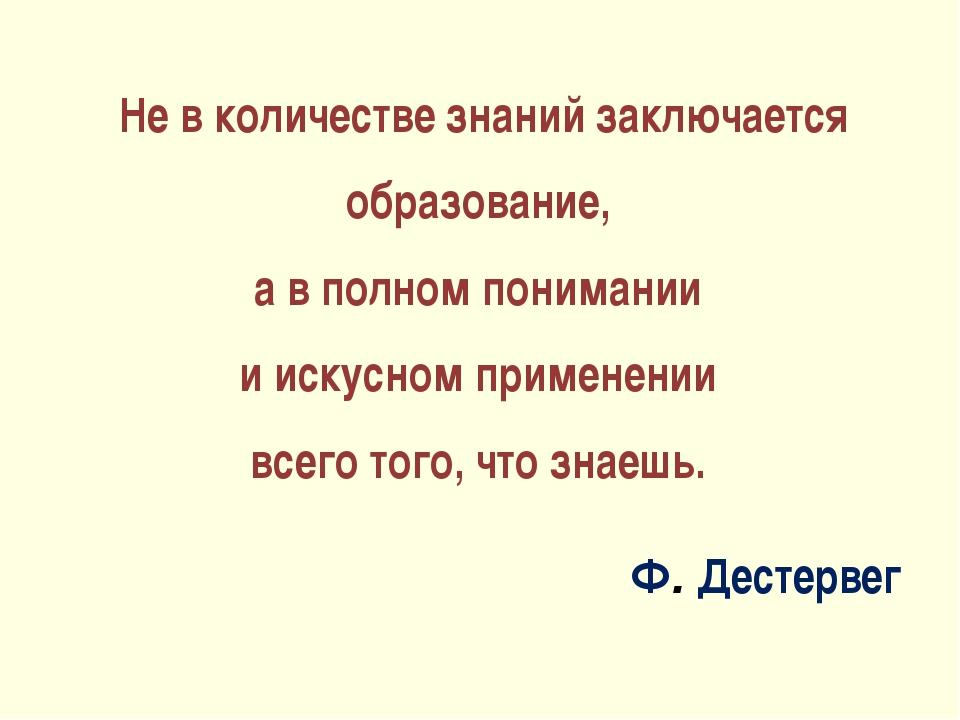 Не в количестве знаний заключается образование, а в полном понимании и искус...