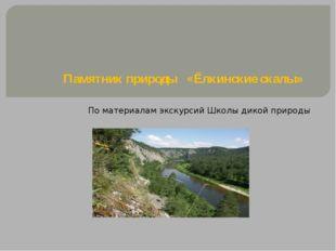 Памятник природы «Ёлкинские скалы»  По материалам экскурсий Школы дикой при