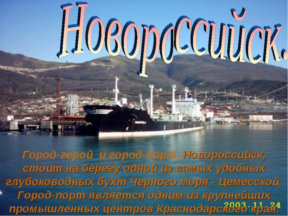 Город-герой и город-порт, Новороссийск, стоит на берегу одной из самых удобны...