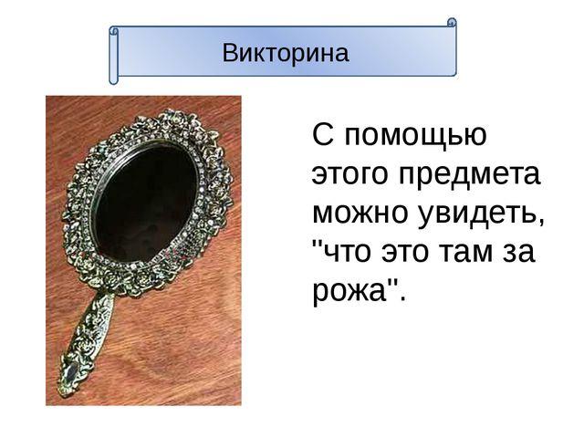 """Викторина С помощью этого предмета можно увидеть, """"что это там за рожа""""."""