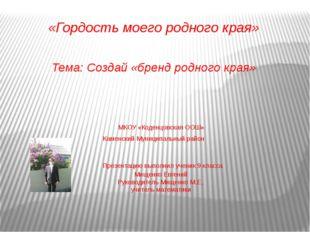 МКОУ «Коденцовская ООШ» Каменский Муниципальный район Презентацию выполнил у