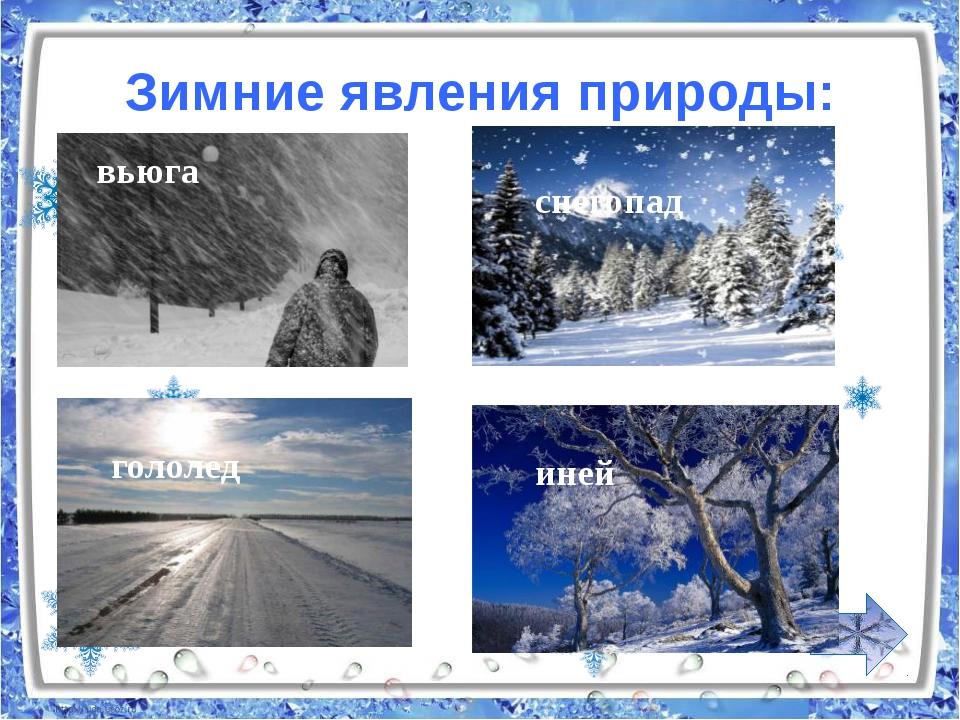 Картинки явлений природы зимой