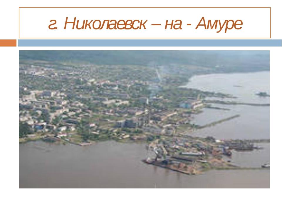 г. Николаевск – на - Амуре
