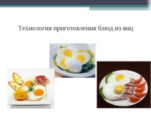 Технология приготовления блюд из яиц