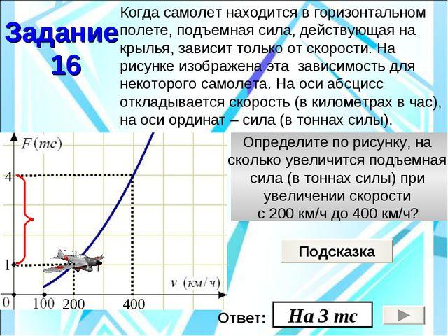 Определите по рисунку, на сколько увеличится подъемная сила (в тоннах силы) п...