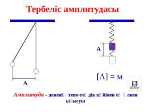 Тербеліс жасайтын дененің координаты уақыт өтуіне қарай қалай өзгергенін көрс