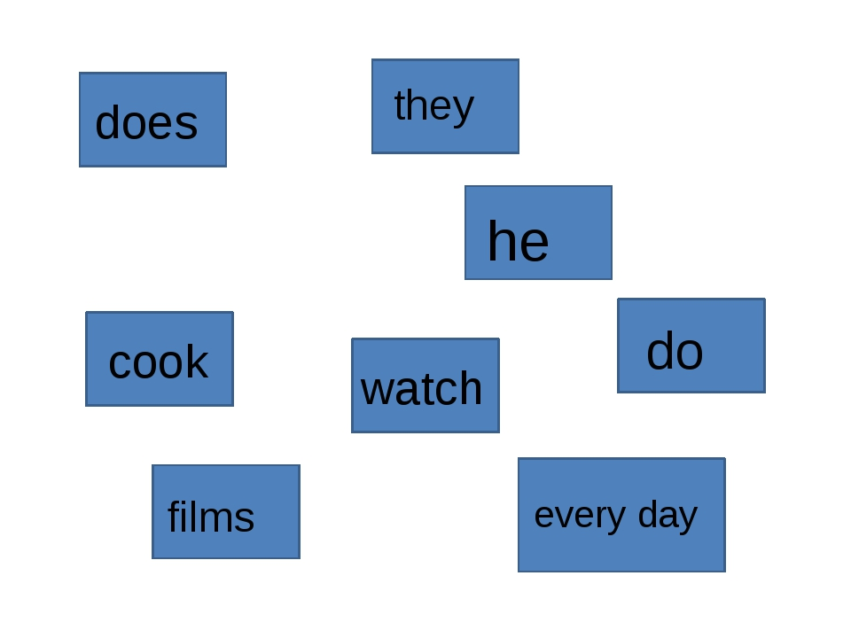 does he watch films do they cook every day