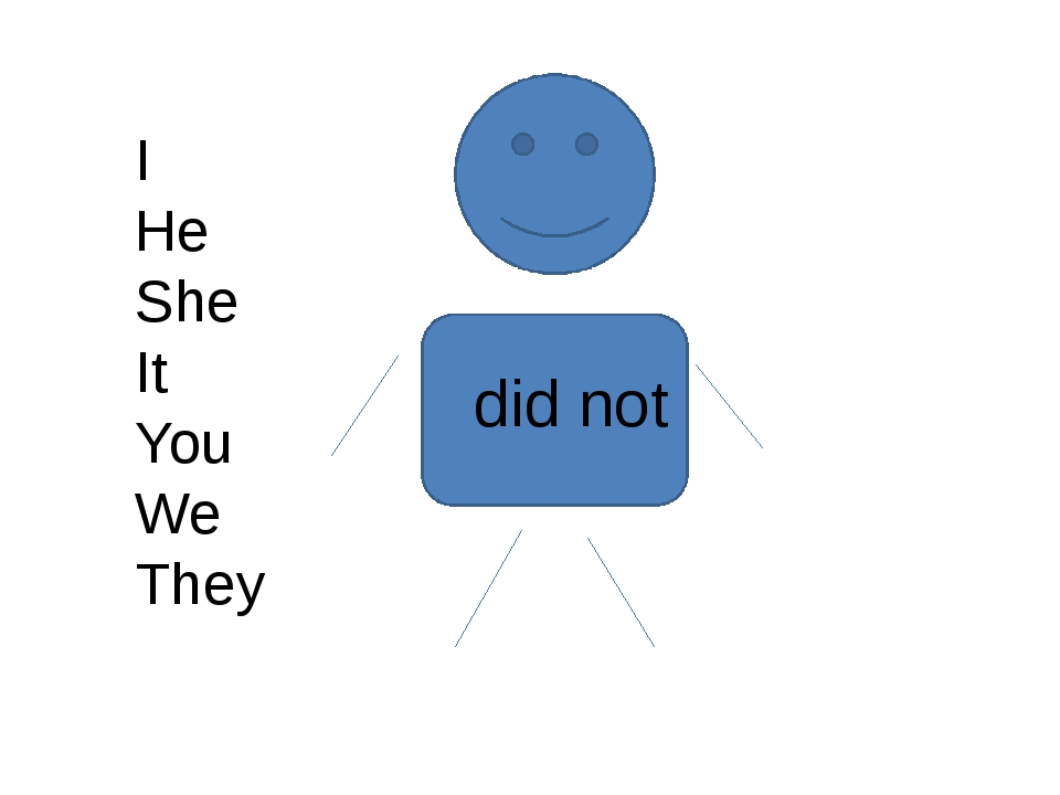 I He She It You We They did not