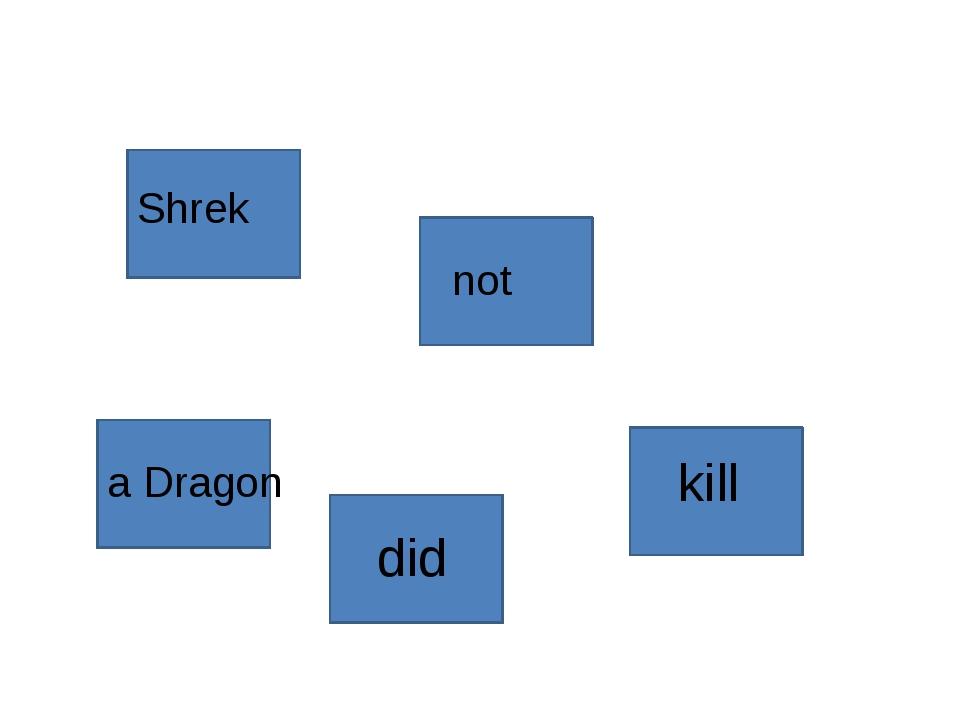 Shrek did not kill a Dragon