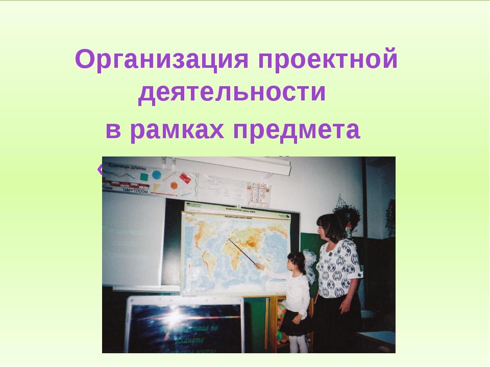 Организация проектной деятельности в рамках предмета «Окружающий мир»