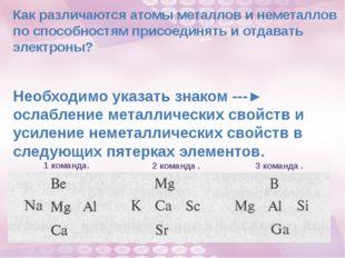 Как различаются атомы металлов и неметаллов по способностям присоединять и от