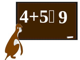 4+5꞊ 9