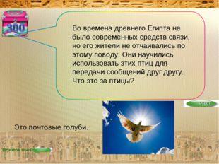 Игровое поле Во времена древнего Египта не было современных средств связи, но