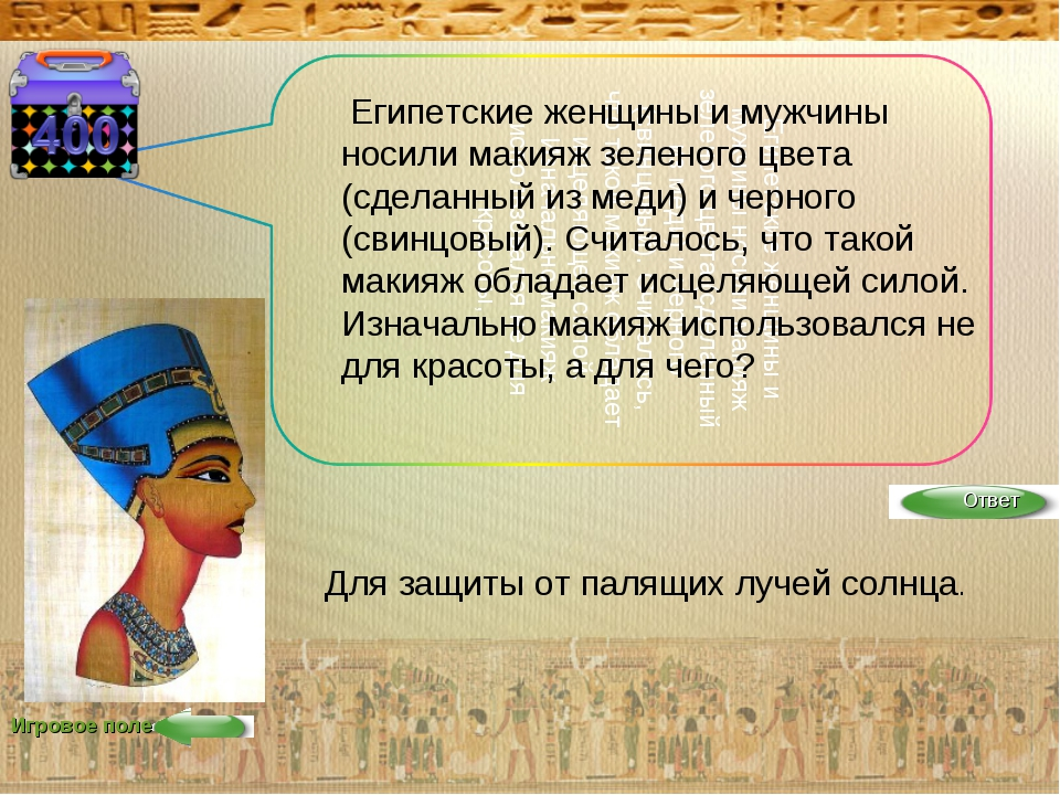 Игровое поле Египетские женщины и мужчины носили макияж зеленого цвета (сдела...