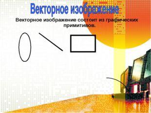 Векторное изображение состоит из графических примитивов.