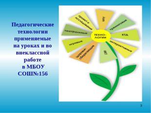 * Педагогическиетехнологии применяемые на уроках и во внеклассной работе в МБ